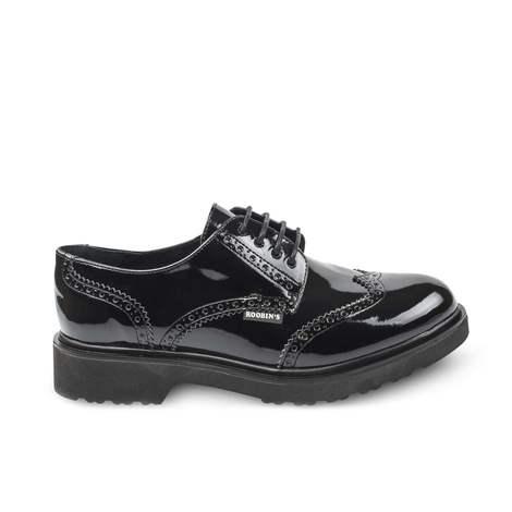 Zapato Oxford. Charol Negro. Mod: Yale