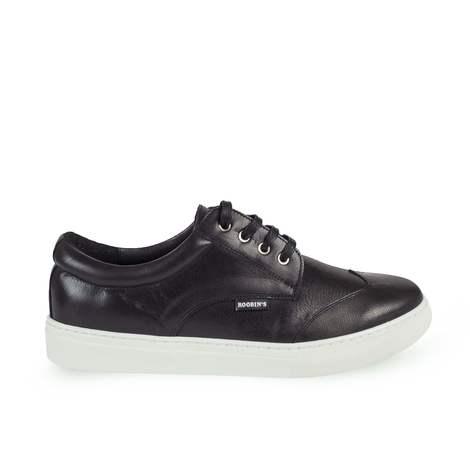 Sneaker. Piel Negro. Mod: Paros-NYB